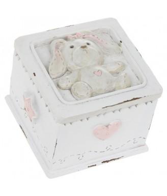 """Keramikinė dėžutė """"Rausvas..."""