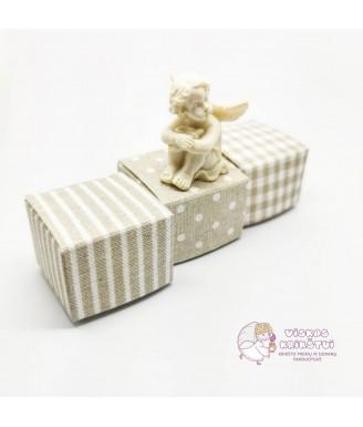 Rusva dovanų dėžutė maža