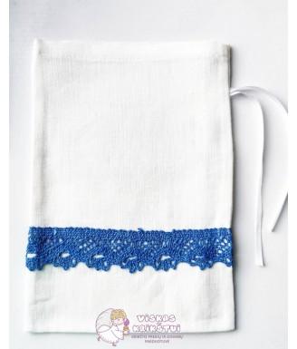 Baltas lininis maišelis su...
