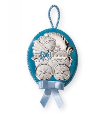 """Medalionas """"Kūdikis"""" žydras"""