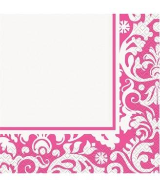 Rožinės raštuotos servetėlės