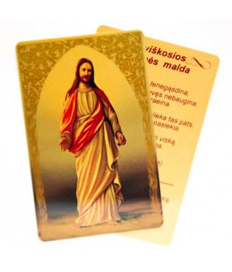 Maldos kortelė Dievui