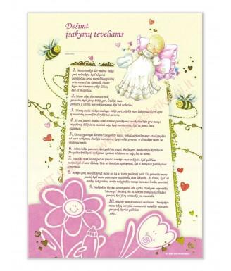 10 įsakymų tėveliams (rožinis)