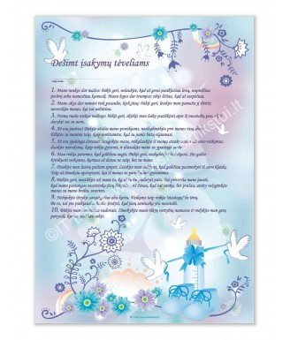 10 įsakymų tėveliams (žydras)