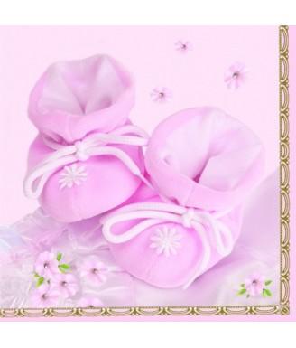 """Servetėlės """"Batukai"""" rožinės"""