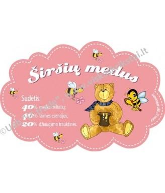 """Etiketė """"Širšių medus""""..."""